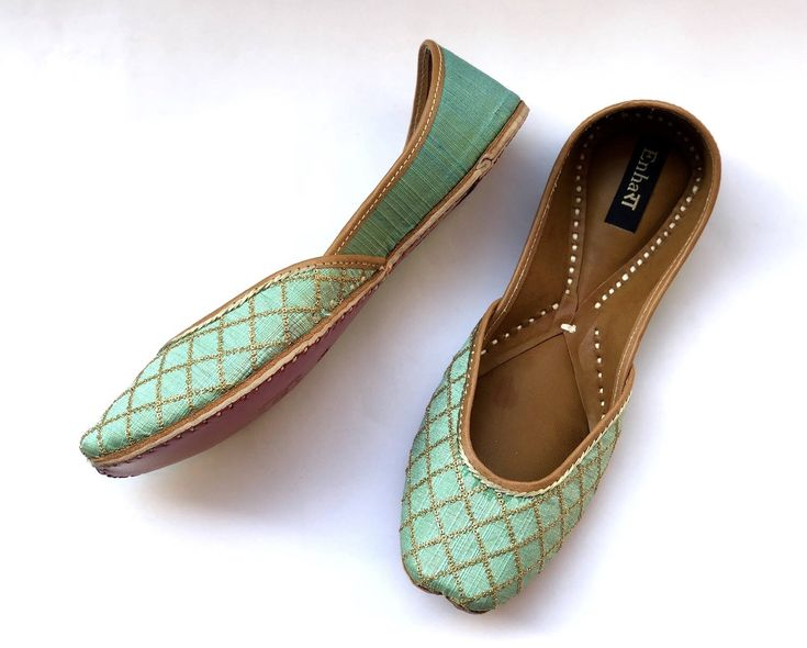 Excited to share the latest addition to my #etsy shop: The Supple Mint Green - Gold Bridal Shoes, Wedding Shoes, Women Flat Shoes, Fancy Shoes, Bridesmaids Shoes #clothing #shoes #women #green #gold #womenshoes #ethnicshoes #indianshoes #bridalshoes