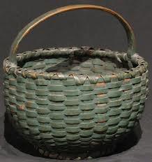 Late 19th Century Round Basket