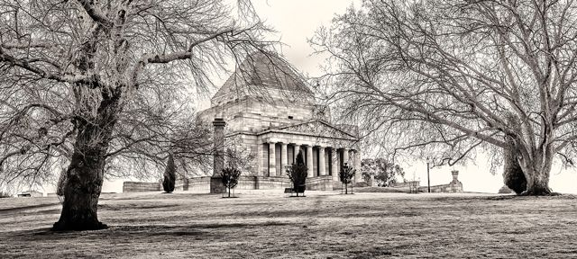 Melbourne Shrine Of Remembrance.  Purchase this print in a beautifully prepared frame.  http://www.nikartphotography.com/
