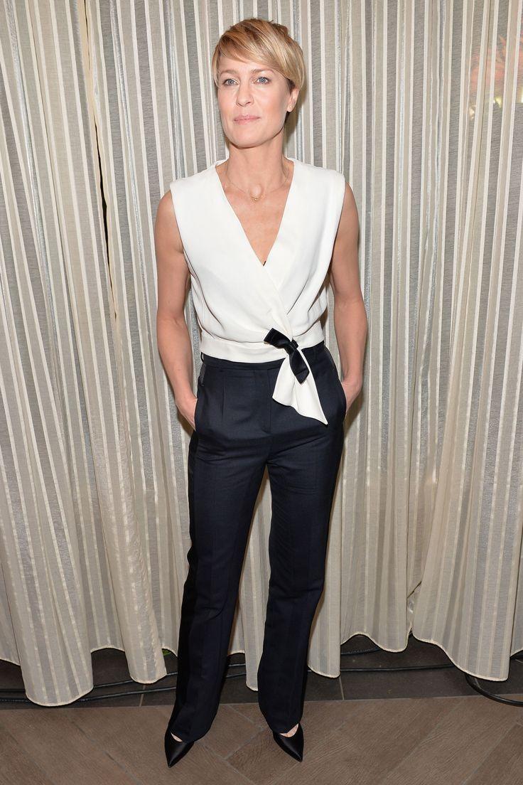 Robin Wright in Balenciaga top at AFI Awards  2014