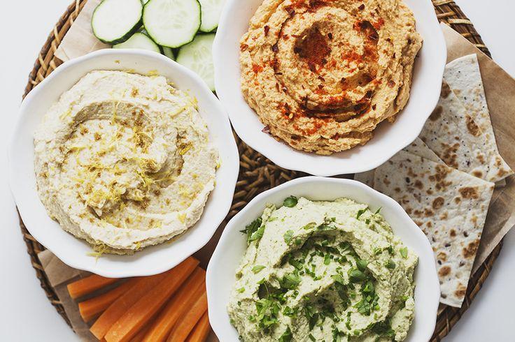 Um Trio de deliciosas receitas de Hummus