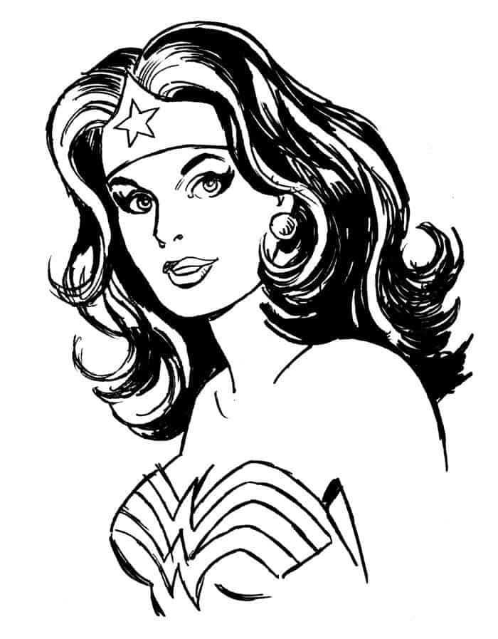 Wonder Woman Coloring Pages For Kids Free Wonder Woman Drawing Wonder Woman Art Pop Art Coloring Pages