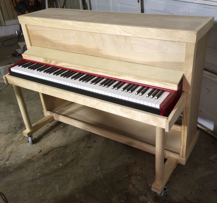 "Built custom upright ""shell"" for electric piano 