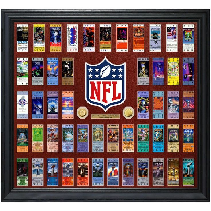 """Highland Mint 36"""" x 40"""" Super Bowl 51 Ticket Collection Gold Coin Frame"""