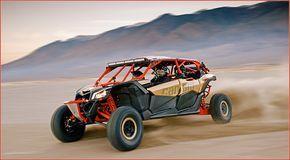 Can-Am Maverick X3 MAX: Radikaler Familien-Offroader Das Offroad-Familiengefährt der etwas anderen Art bietet der kanadische Hersteller BRP mit dem Side-by-Side Buggy Can-Am Maverick X3 MAX: 154 Turbo-PS sorgen im Offroad-Gelände für radikalen Vortrieb http://www.atv-quad-magazin.com/aktuell/can-am-maverick-x3-max-radikaler-familien-offroader #canam #maverick #neuvorstellung #handel #sidebxside #atvquadmagazin
