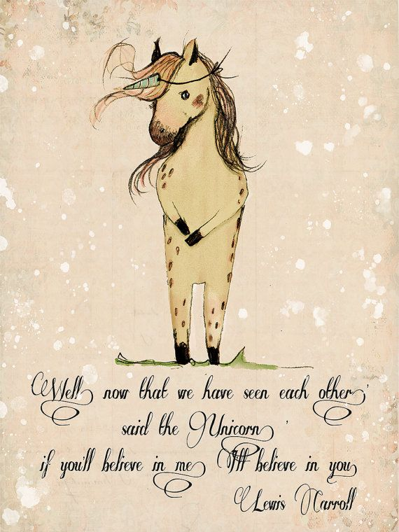 Unicorn quote Inspirational nursery Quote if you'll