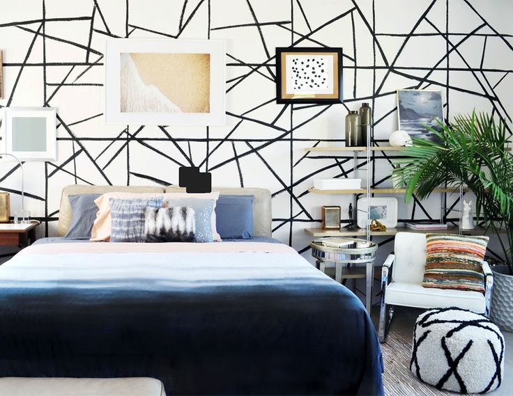 See more images from diy faux wallpaper by thedesignconfidential on domino.com