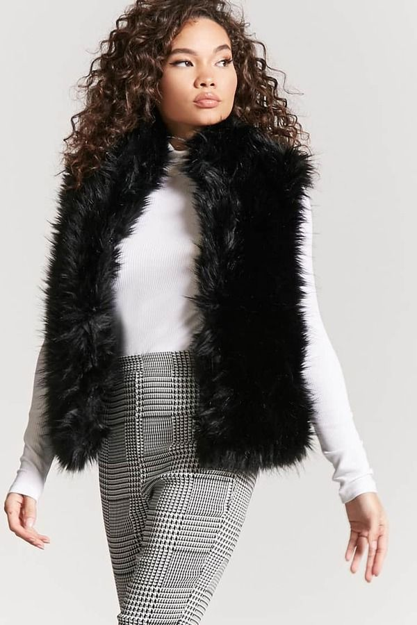 FOREVER 21 Shaggy Faux Fur Vest #fakefur #fauxfur #furvest #fakefurvest #winter #winterfashion #winterfashion2017 #winter2017