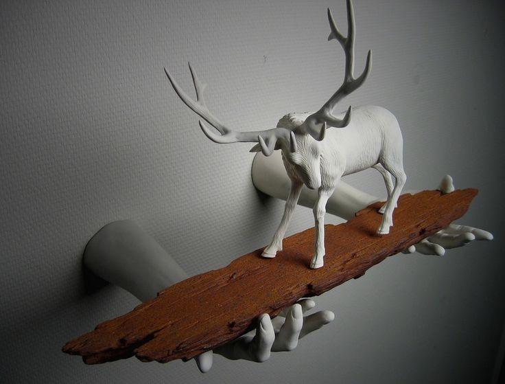 Wookjae Maeng: тематические керамические скульптуры