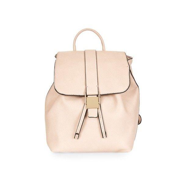 Topshop Glasgow Mini Backpack (€30) ❤ liked on Polyvore featuring bags, backpacks, camel, camel backpack, pink bag, miniature backpack, mini backpacks and polka dot backpack