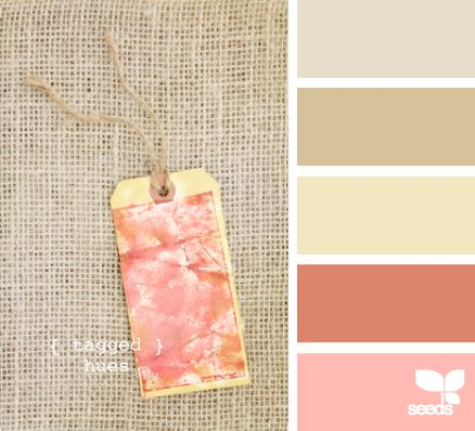 Burlap and coral