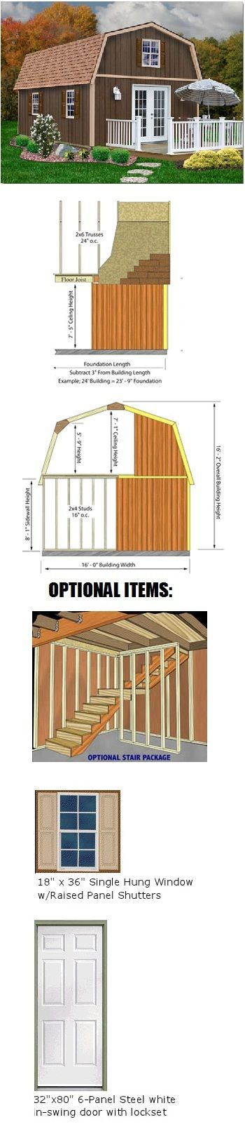 10 images about from a shed to a home on pinterest for 16x32 2 story house plans