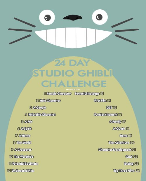 The Ghibli challenge!                                                                                                                                                                                 More