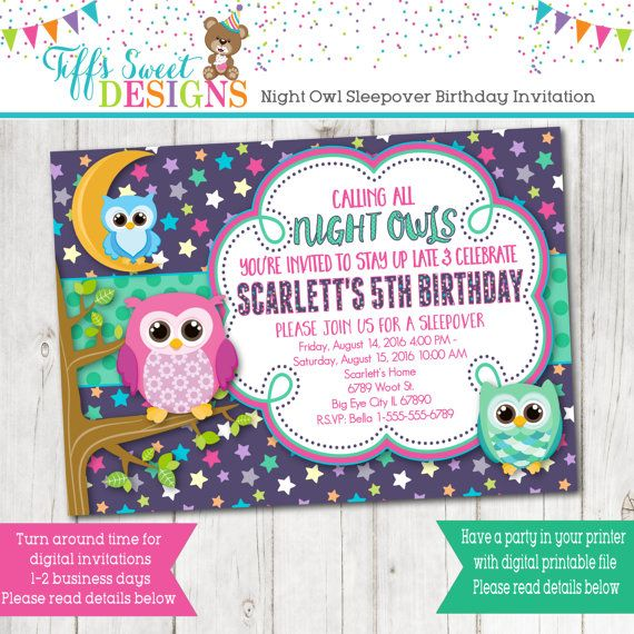 1000 ideas about Slumber Party Invitations – Invitations to a Party