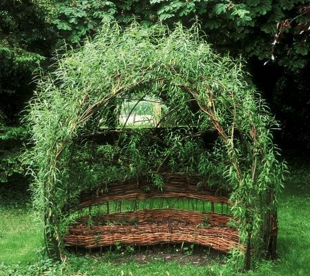 willow arch with seat - Google Search
