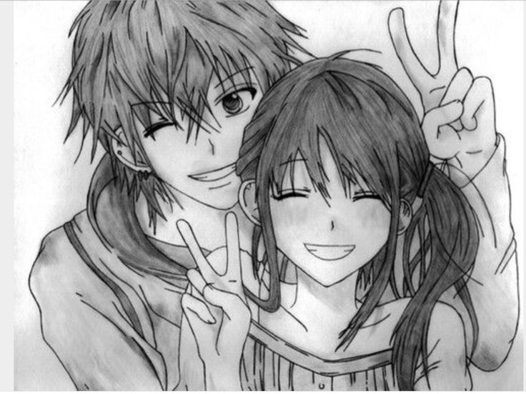 Cute anime couple ❤ ❤ ❤ ❤ ❤ ❤ ❤