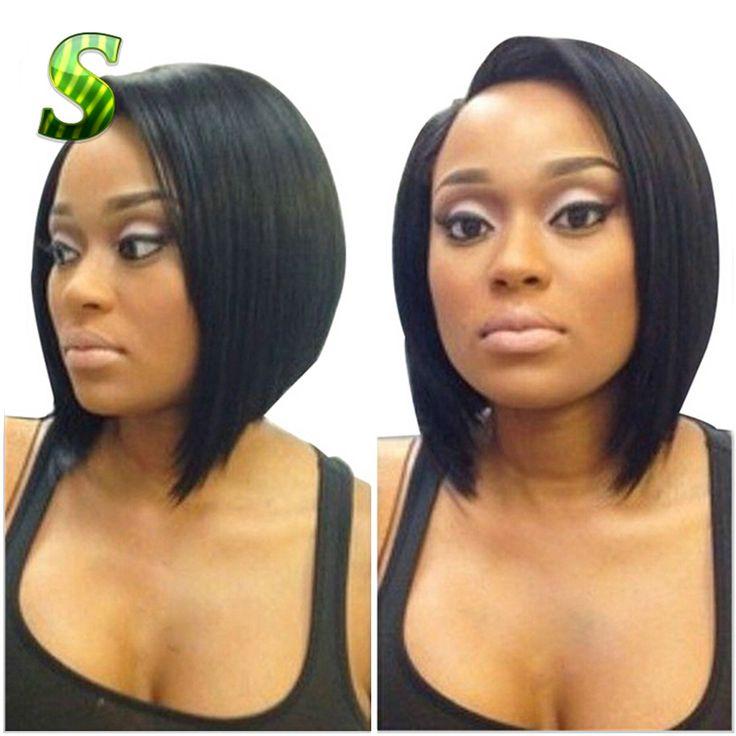 7A Short Human Hair Bob Wigs For Black Women Brazilian Virgin Hair Bob Lace Front Wigs Glueless Full Lace Bob Wig Free Shipping