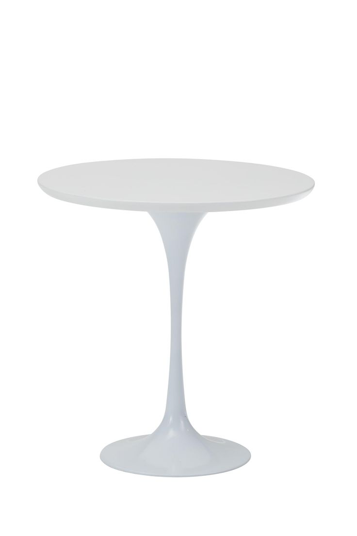 Replica Eero Saarinen Tulip Side Coffee Table - White -- As one of the most widely recognised furniture pieces, the Replica Eero Saarinen Tulip Side Coffee Table features the slender curved base with arching curves that made his design so simple yet famous.  Perfect for the living room or for the smaller space, this side table is easily moved to be tucked away in a corner when not in use.  Our Replica Saarinen White Tulip table has a slender aluminium base and is complemented by the ...