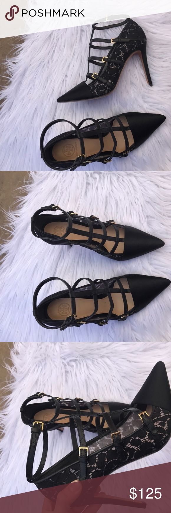 TORY BURCH SZ 10 CAGED SHOES HEELS PUMPS LACE Beautiful and pretty much new , just don't have the box:) 100% authentic Tory Burch Shoes
