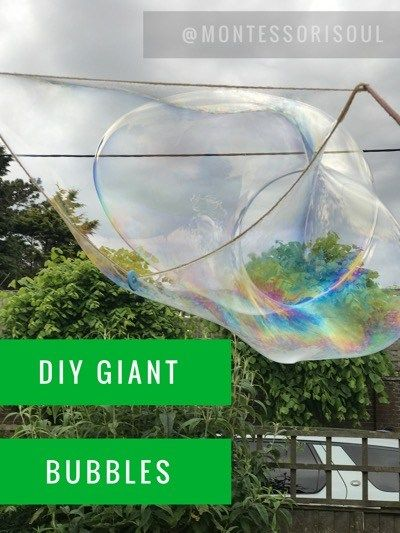 DIY Giant Bubbles – 4 simple ingredients – NEW and improved! | MontessoriSoul