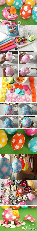 Diferentes tipos de sorpresa - partido cautivo Egg DIY ~ materias primas: - globos pequeños - un pañuelo de papel (un papel probablemente hacer tres huevos) - papel de seda de colores (una hoja de papel puede hacer un montón de huevos, así que no lo hacen toma demasiado) - un diámetro de 3/4 pulgada perforadora - un pincel pequeño - pasta de lavandería líquido (esto es un cemento muy buenos) - un huevo vaso pequeño fijo - línea delgada