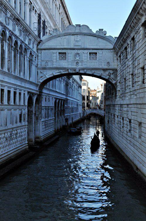 Venice. The bridge of sighs