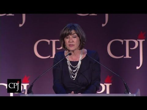 CNN's Christiane Amanpour received the Burton Benjamin Memorial Award for her work in the cause of press freedom at the International Press Freedom Awards.