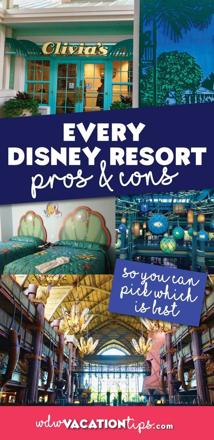 Many factors go into the decision to select the right hotel for your Disney vacation, not the least of which is cost. So what a better way to help you pick than to offer up the pros and cons of every single Disney resort. The good news is that... #disneyhotels #disneyresorts #wheretostayatdinsey