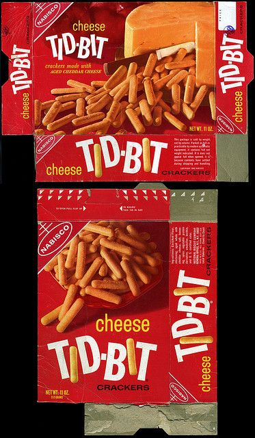 Nabisco - Cheese Tid-Bit snack cracker box - Late 1960s/Early 1970s by JasonLiebig, via Flickr
