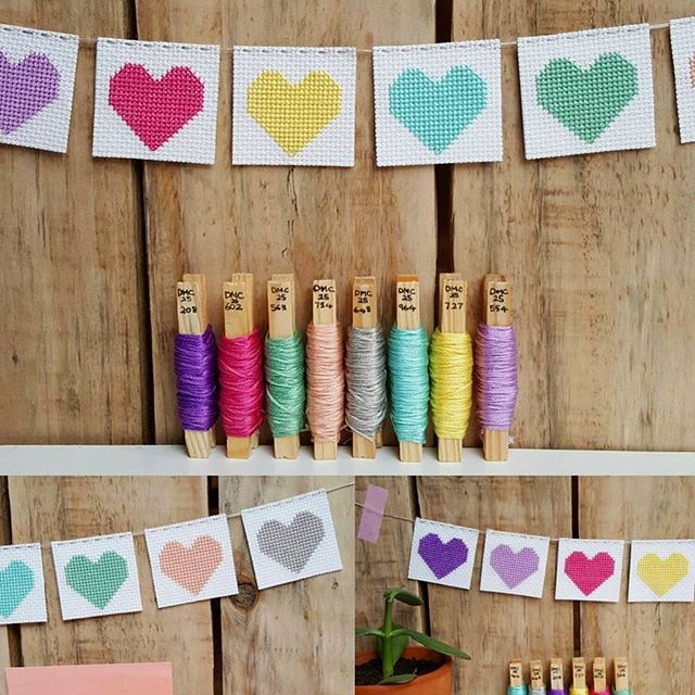 A make for love! Find this cute cross stitch hearts bunting tutorial over on our blog.