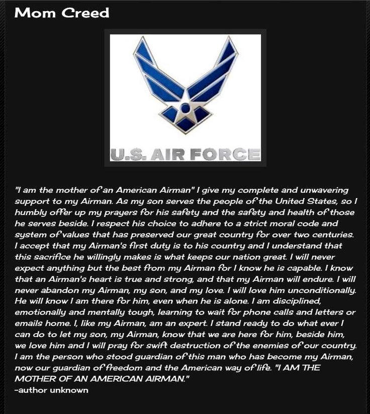 "Every ""him"", I change to ""them,"" every ""he"" I change to ""they"" for my son AND my daughter both serve. And they are both called ""AIRMAN""  Please DON'T forget the women who serve in our armed forces."