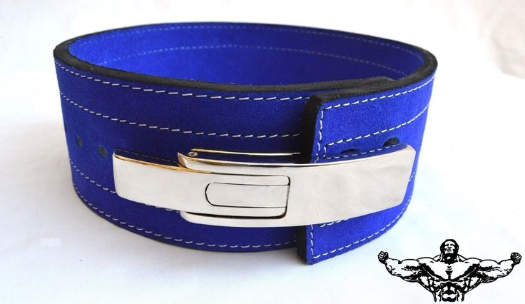 Quest Powerlifting Belt with Lever Buckle (Blue) - Weightlifting Crossfit Strongman (33 - 41 Inch Waist (Large)). High quality leather with 4 heavy duty rows of stitching to keep the belt solid and protected for years to come!. More flexible from the start allowing for a comfortable fit while providing excellent support. Chromed lever buckle with two positions on the belt for more sizing options. Black suede on both inside and out, with no printing. NO TACKY LOGOS!. 10mm thick and 4…