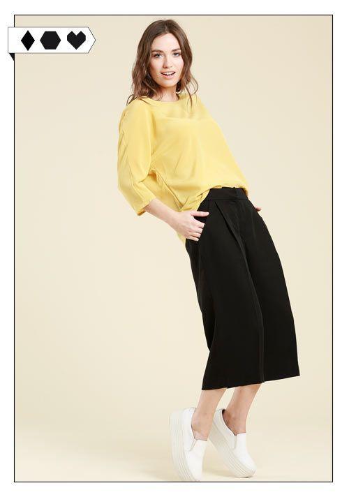 Lanius Culotte schwarz auf Sloris - Slow Fashion Blog