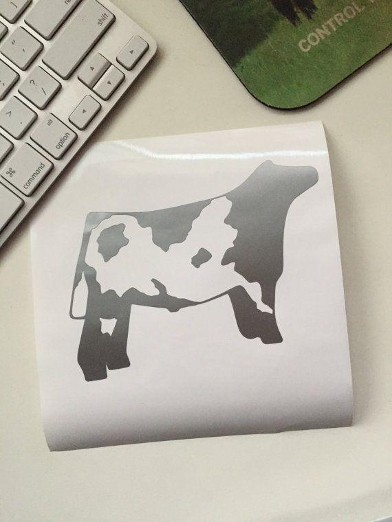 Shorthorn Show Cattle Steer Vinyl Sticker By