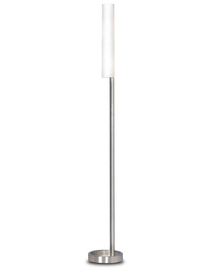 Moderne staande lamp met glas
