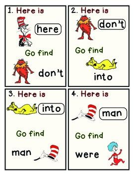 Dr. Seuss FREE Write the Room Activities