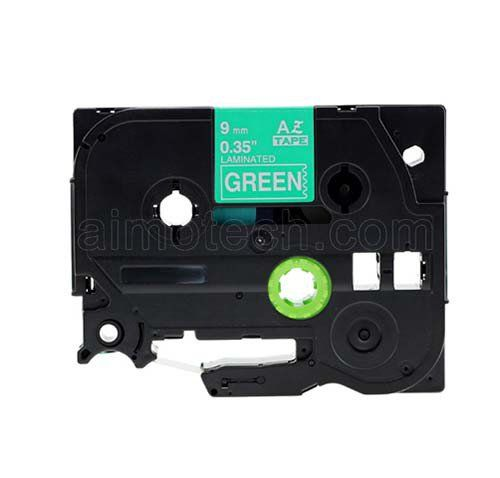 """Brother TZe-725 9mm (0.375"""") White on Green Compatible Label Tape"""