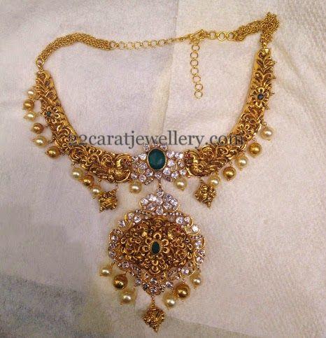 Jewellery Designs: Filigree Design Floral Choker