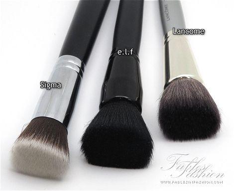 flat top kabuki brush for liquid foundation. elf flat top foundation brush kabuki for liquid
