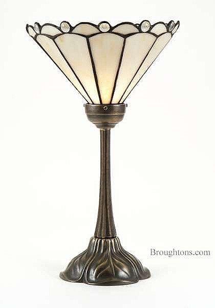 Art nouveau uplight table lamp