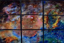 """Early Spring by Cynthia Miller (Art Glass Wall Sculpture) (34"""" x 40"""")"""