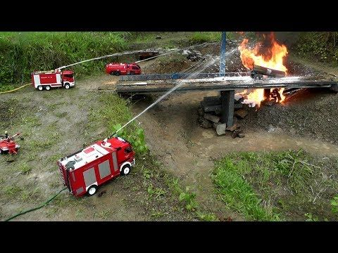 RC HORRIBLE ACCIDENT,RC TANK TRUCK ON FIRE,