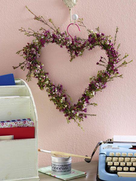 clothes-hanger flower heart wreath