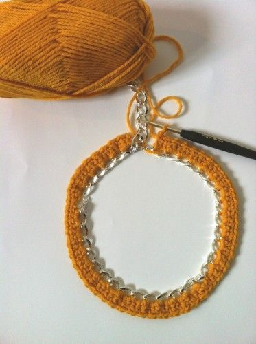 Crochet chain necklace how-to