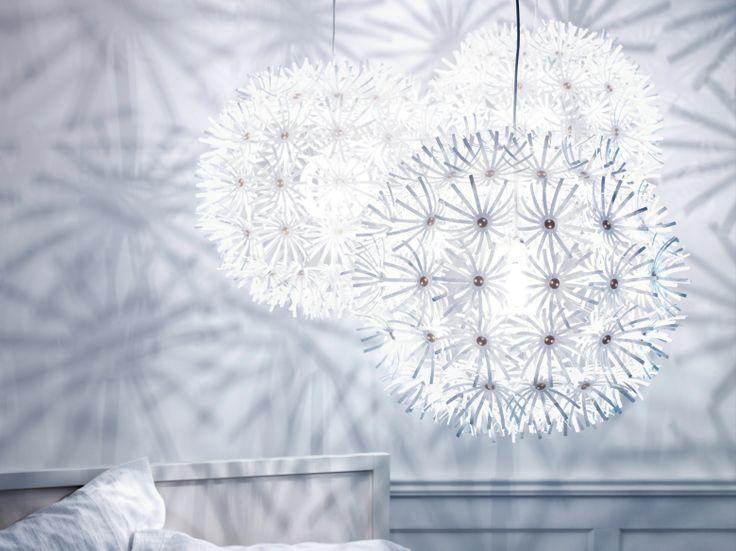 De MASKROS hanglamp maakt van de hele kamer een decoratief kunstwerk. #IKEA