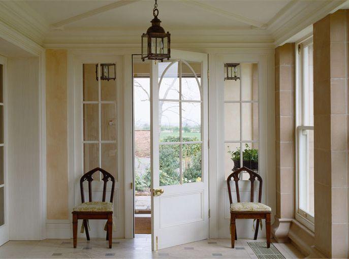 Lovely door and windows mark gillette design entryway pinterest - Country house interior design ...
