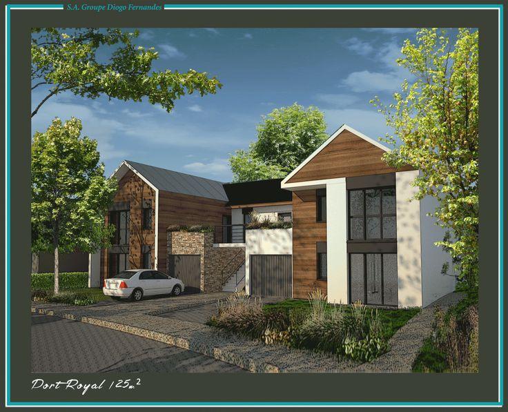 Maison d'architecte Port Royal - 125 m² habitables - 5 pièces dont 4 chambres et une mezzanine  #plan #maison #architecte #immobilier #diogo #diogofernandes
