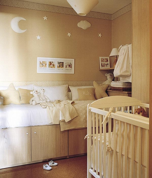 Great for a baby's room... mom/dad can rest on the daybed