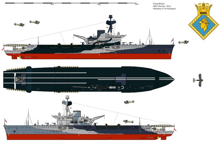 hms hermes  95  - portaerei leggera unica di classe