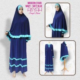 Busana Muslim - Modern Syari Navy Blue